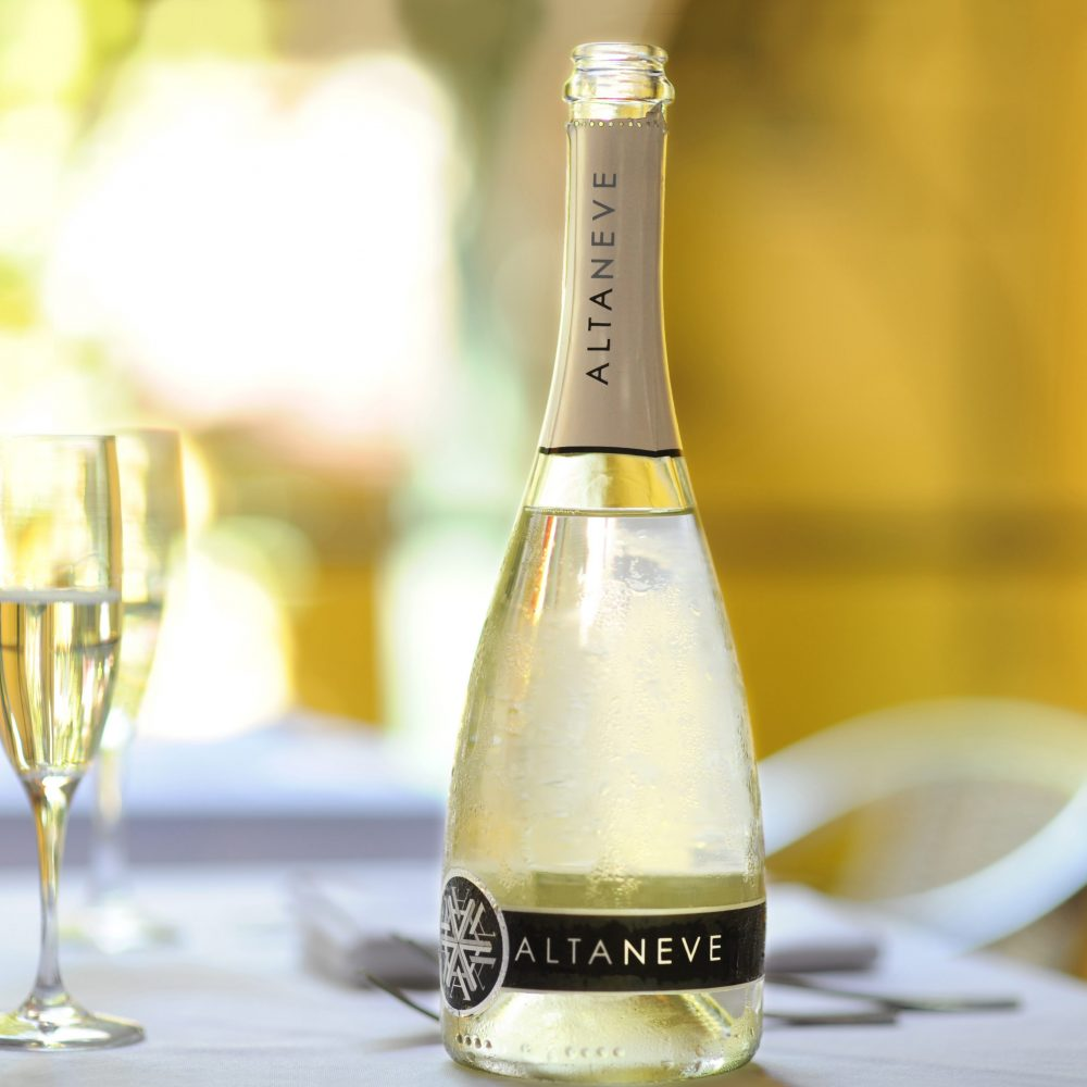 Chilled Altaneve Prosecco Bottle